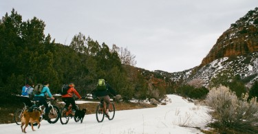 Biking in to Fifth Water Hot Springs